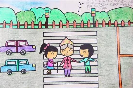 常德娃娃手绘明信片讲文明道礼仪 -中国文明网·常德图片
